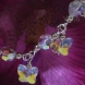 Sterling Silver wire with Crystal AB Swarovski Crystals