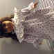 pink floral lace trimmed night gown