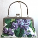 Purple Floral Clutch