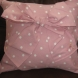 Front of polka dot cushion