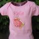 Bird design on pink shirt