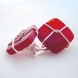 stunning deep red stones paired with sterling silver