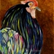 """Rooster"" Fine Art Reproduction by Julie A. Brown Wabi Brook Studio"