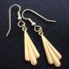 Art deco brass earrings