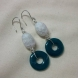 Cracked glass beads and turquoise donuts