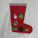 Red Felt with green decorations