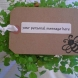 ::PERSONALIZED GIFT TAG::