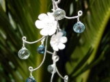 Frost Blossom Vine Earrings