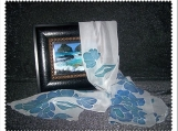 Blue Flowers Of Spring Scarf / Summer Evening