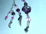 High Heel & Moon Cell Phone Charm OOAK Unique One Of A Kind