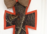 Camouflage and Burlap Door Hanger
