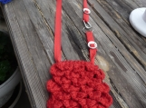 Heart Stitch Crochet Hip or Shoulder Bag