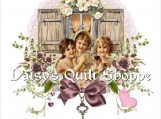 Applique Fabric Quilt Block *Three Friends* Collage 14-0094
