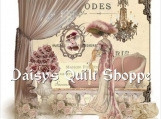 Shabby *Paris* Collage Applique Fabric Quilt Block 14-0096