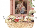 Shabby Vintage Mother & Child Collage Quilt Block 14-0082