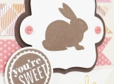 Sweet Easter Bunny Card in Pink
