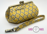 Ava Clutch: Mustard Lattice