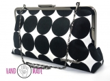 Olea 10 Clutch: Black Dotty