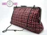Olea 10 Clutch: Magenta Tweed (Limited Edition)