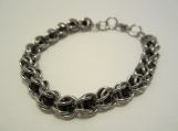 Ladies bracelet - Stainless steel and black