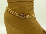 DC102 Amber gold tone Boot Chain