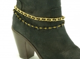 DC122 Gold and Black Boot Chain