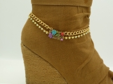DC131 Colorful Gold Tone Boot Chain