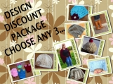 PDF Crochet Pattern-Design Discount Pattern Package Choose any