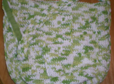 Lime and White Shoulder Bag Hand-crocheted