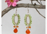 Super Cute and Feminine Green Peridot Earrings