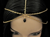 14kt Gold Plated Multi Strand Head Chain