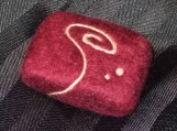 Handmade Felted Soap with scroll, unscented handmade cold-process soap