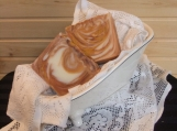 Harvest Swirl, scented handmade cold process soap