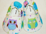 Owl Baby Booties - Newborn, Infant, Baby Slippers, Crib Shoes, Footwear, 0 - 18 Months