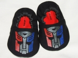 Transformer Baby Booties -  Hand Painted - Optimus Prime