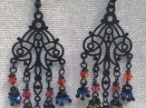 Black chandeliere earrings