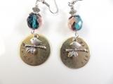 Custom-Hand stamped -always sisters- earrings