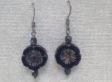 Hawaiian flower dangle earrings