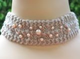 Knit 2 Pearl 1 Necklet Cashmere Choker