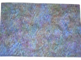 Purple-Blue Cotton Batik Quilted Place Mat Set - reversible/three-ply (4 place mats)