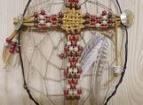 CrossCatcher: A Beaded Cross captured in a Dream Catcher (CC10)