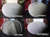 4 Crochet Pouf Floor cushion Patterns & Tutorials