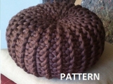 Pattern Knitted Pouf Floor Cushion