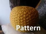 Small Knitted Pouf Pattern