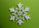 "Ornament ""Snow on the bough"" Snowflake"