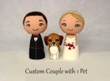 Custom Cake Topper with One Pet