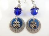 Custom hand stamped -nurse- earrings