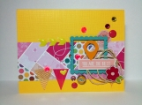 """Eclectic collage friendship card """"you are the best"""""""