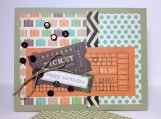 Retro Happy Birthday card - Travel theme