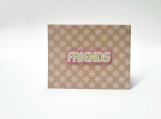 Friends Pink, Green & White Note Card Keepsake